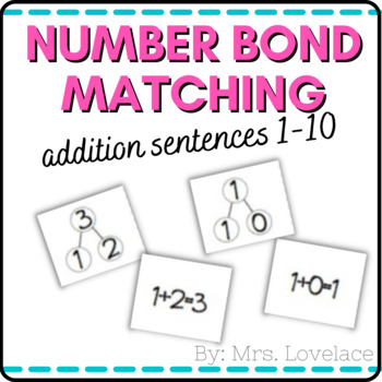 Number Bonds 1-10:  Matching Addition Number Sentences - Singapore Math