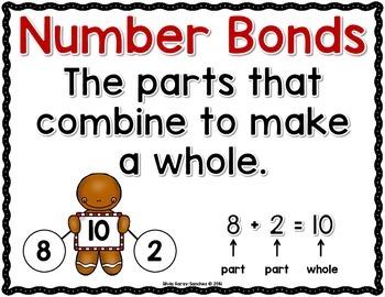 Number Bonds 1-20 (Gingerbread Kids)