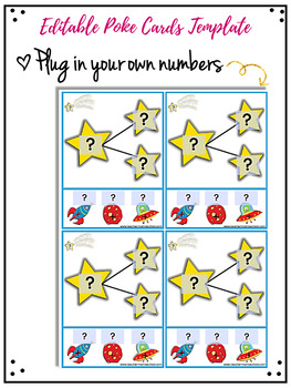 Number Bonds 1 to 20 - Poke Cards | EDITABLE