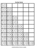 Number Bonds 1 to 20 worksheets