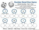 Number Bonds 10 Part, Part, Whole Dice Game (Subtraction)