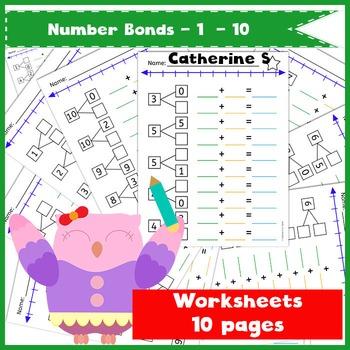 Number Bonds to 10 - Addition