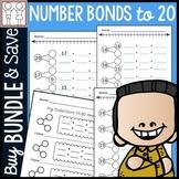 BUNDLE: Number Bonds to 20 Worksheets