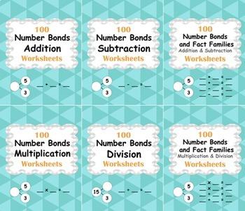 Number Bonds Worksheets Bundle
