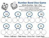 Number Bonds 20 Part, Part, Whole Dice Game (Subtraction)