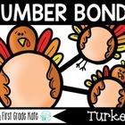 Number Bond Task Cards Thanksgiving Turkeys