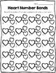 Number Bond Task Cards Valentine's Day Hearts