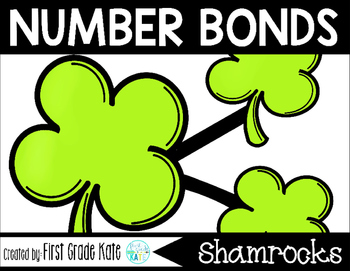 Number Bond Task Cards St. Patrick's Day Shamrocks