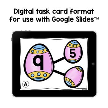 Number Bond Task Cards Easter Eggs
