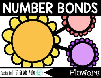 Number Bond Task Cards Spring Flowers