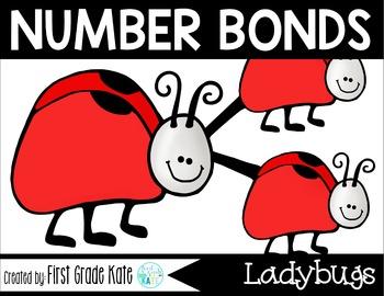 Number Bond Task Cards Spring Ladybugs