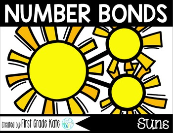 Number Bond Task Cards Summer Sun