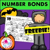 Halloween Bats Number Bonds 3's-10's Addition Practice Set