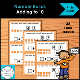 Number Bonds Adding up to Ten Task Cards