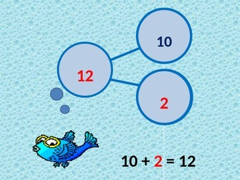 Number Bonds Addition 10 +  (11-19) PowerPoint with Student Worksheet