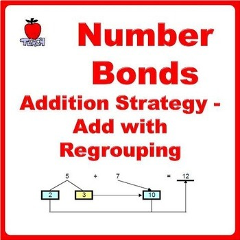 Add with Regrouping Number Bonds Addition Strategy
