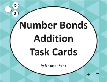 Number Bonds: Addition Task Cards