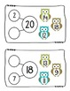 Number Bonds Addition Task Cards Owl Style (Common Core Aligned)