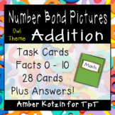 Picture Addition Number Bonds Task Cards (Common Core Aligned)