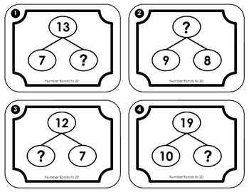 Number Bonds:  Addition and Subtraction Facts to 20