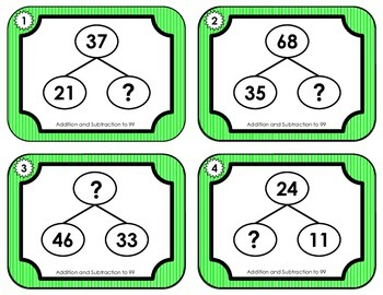 Number Bonds:  Addition and Subtraction Facts up to 99
