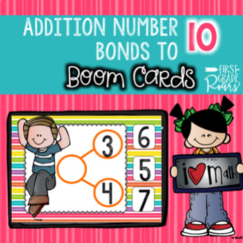 Number Bonds Addition to 10 using BOOM CARDS