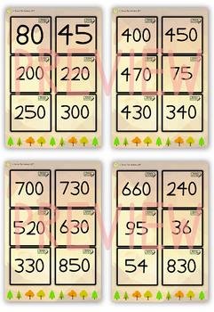 Number Bonds Bingo Outdoor Activity (Bonds 15 - 900)