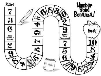 Number Bonds Board Game
