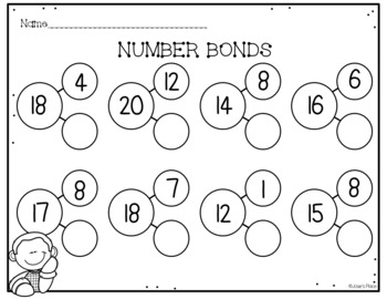Number Bonds (Breaking down numbers, addition/subtraction practice & more!)