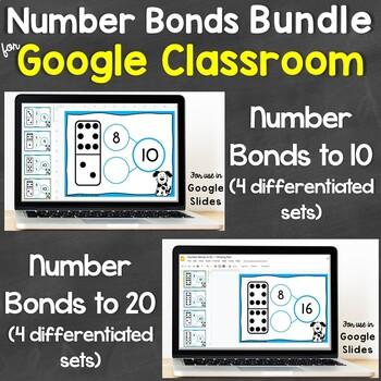 Number Bonds Bundle for Google Classroom, Google Slides (Differentiated)
