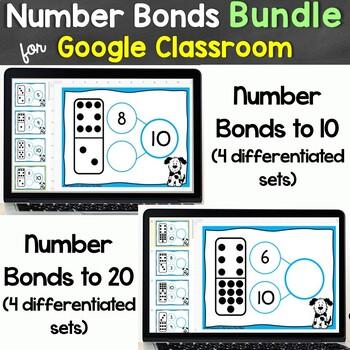 Number Bonds Bundle for Google Classroom, Google Slides Distance Learning