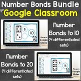 Number Bonds Bundle for Google Classroom, Google Slides Di