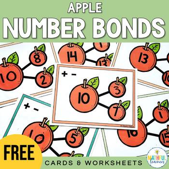 Number Bonds Cards & Worksheet: Apples