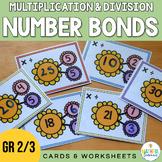Number Bonds Multiplication & Division Cards