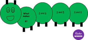 Number Bonds Caterpillar Template