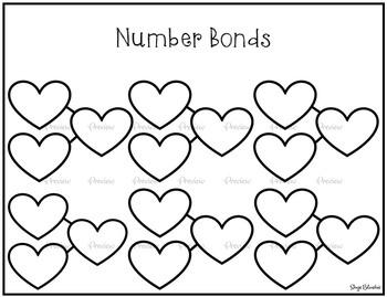 Number Bonds Chart (Heart Edition)