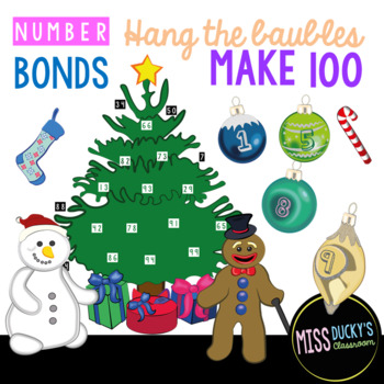 Number Bonds Christmas Tree (100)