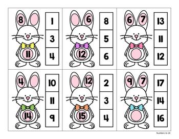 Number Bonds Clip Cards:  Bunny Bonds!