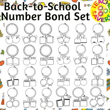 Number Bonds Commercial and Personal Use (Back to School Theme)