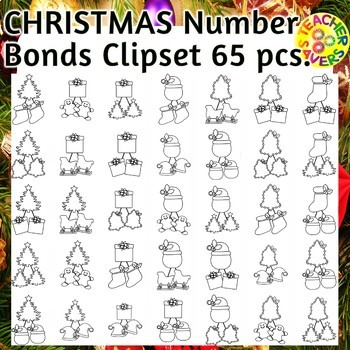 Number Bonds Commercial and Personal Use (Christmas Themed)