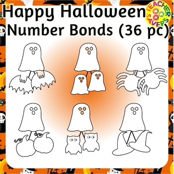 Number Bonds Commercial and Personal Use (Halloween Theme)
