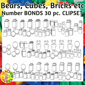 Number Bonds Commercial and Personal Use (Math Manipulatives)