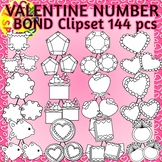 Number Bonds Commercial and Personal Use (Valentine Theme)