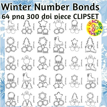 Number Bonds Commercial and Personal Use (Winter Themed)