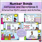 Number Bonds Compose & Decompose 8 *INTERACTIVE PowerPoint Math Lessons*DIGITAL*