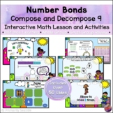 Number Bonds Compose & Decompose 9 *INTERACTIVE PowerPoint Math Lessons*DIGITAL*