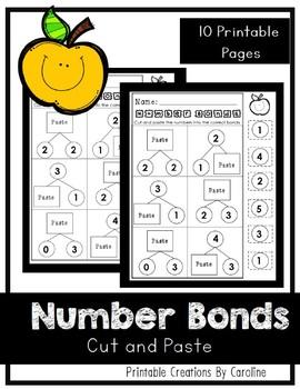 Number Bonds. Cut and Paste. Kindergarten/First Grade. Common Core.