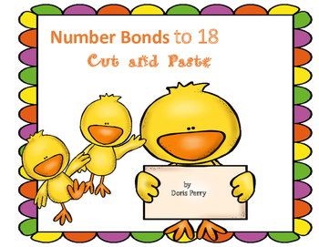 Number Bonds Cut and Paste to 18