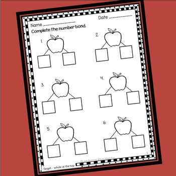 Fall Number Bonds: Differentiated Editable Practice Pages