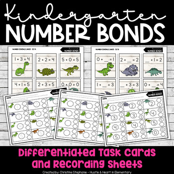 Kindergarten Combos to 5 Number Bonds (Dinosaurs)